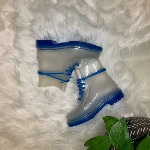 🌑 S O L D 🌑  | Jelly Lace Up Rain Boots | Size 9